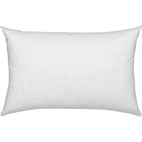 L' COZEE 100% Cotton Cover, Feather & Down Pillow, Best use for Decorative Pillows & for Firm Sleepers, Dust Mite Resistant (not Polyester Filled) Size 16x24