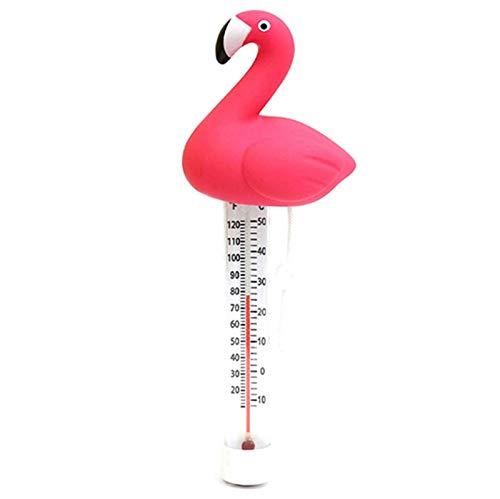 Termómetro de agua flotante, termómetro flotante de flamenco, medición precisa para piscina/bañera de bebé/bañera de hidromasaje/spa/estanque