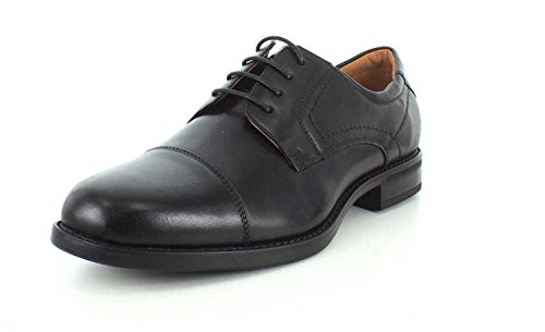 Florsheim Hombres Center Cap OX Piel Oxfords, Black, Talla 8