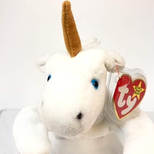 TY Beanie Baby - MYSTIC the Unicorn (tan horn & yarn mane)