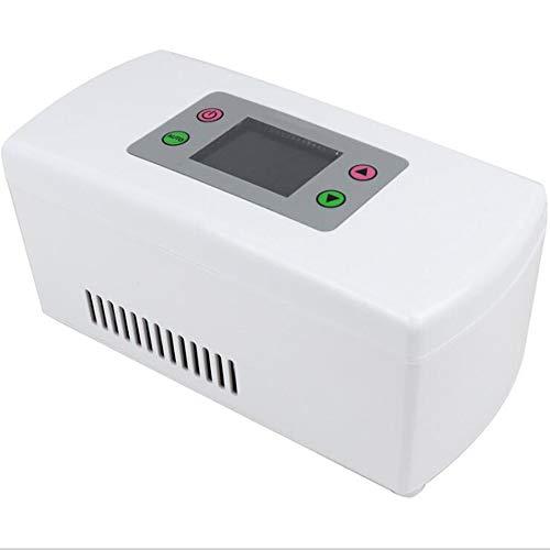 WANGT Gekühlter Insulin-kühlschrank,Wiederaufladbare Temperaturregelung Intelligente Kühlung Heiß&kühl Duale Kontrol Tragbare Medizinischer Kühlschrank,Reise Arbeit Car Refrigerator,No Battery