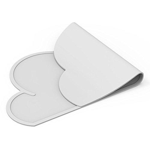 Ruikey - Tovaglietta segnaposto pieghevole e portatile per bambini, a forma di nuvola, in silicone antiscivolo, utile per sistemare piatti e posate, Silicone, White, 47.8×27cm