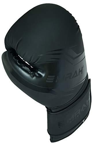 EMRAH Boxing Gloves  Sinner Series  Matte Hide Leather Boxing Training Gloves (Matte Black, 10 OZ)