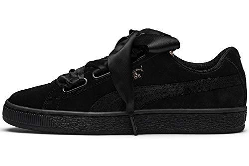PUMA Suede Heart Artica Wn's, Zapatillas para Mujer, Negro Black Black 02, 37 EU