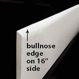 Metro (Subway) 4X16 Superwhite Gloss Bullnose Tile Long Side