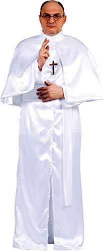 Fiori Paolo- Eminenza Papa Costume Adulto, Bianco, Taglia 52-54, 62073