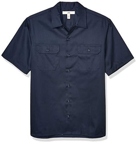 Amazon Essentials Short-Sleeve Stain and Wrinkle-Resistant Work Shirt Hemd, Dark Navy, XX-Large
