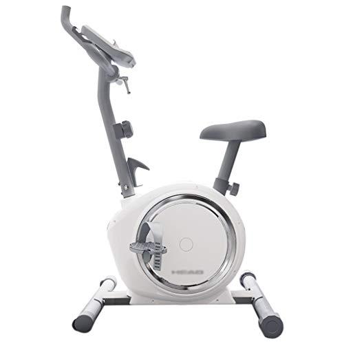 DPPAN Bicicleta De Ciclismo Interior, Bicicleta Estática Plegable Conpantalla LCD, Pulsómetro Bicicleta Estática Resistencia Variable para El Hogar Bicicleta De Spinning,White_8-Speed Adjustment