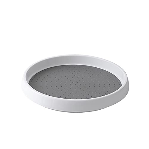 Mabor Lazy Susan - Plato giratorio giratorio de 360 grados, organizador de mesa giratoria para especias de cocina, despensa, aparador, oficina