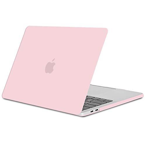 """TECOOL Coque MacBook Pro 15 Pouces 2016/2017 / 2018/2019, Mince Plastique Étui Coque Rigide Housse pour Apple MacBook Pro 15,4"""" avec Touch Bar (Modèle: A1707 / A1990) - Rose Quartz"""