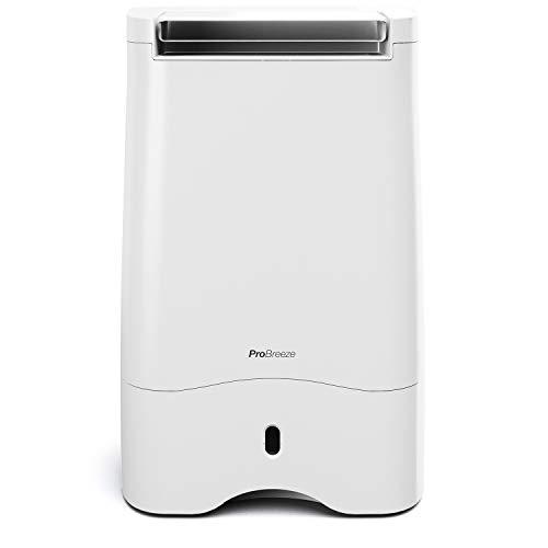 Pro Breeze™ 10L Luftentfeuchter mit Trockenmittel für kalte Umgebungen – Bautrockner mit Zeitschaltuhr, LED Display, Ablaufschlauch, antibakterieller Filter, optimal gegen Schimmel im Keller