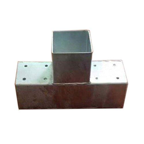 Holzverbinder T-Form für 3x Balken 90x90 Pfostenecke Pfostenverbinder von Gartenpirat®