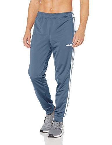 adidas Men's Athletics Essential Tricot 3-Stripe Pants, Tech Ink/White, Medium