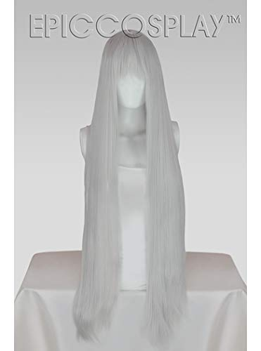 Epic Cosplay Persephone Silvery Grey Long Straight Anime Wig 40 Inches (12S1)