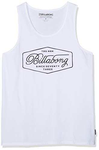 BILLABONG Trademark Tank Camiseta sin Mangas, Blanco (White 10), X-Small (Tamaño del Fabricante:XS) para Hombre