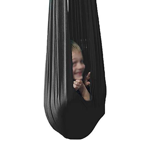 Columpio sensorial Swing de terapia interior de yoga de yoga de vuelo de vuelo Aéreo ajustable para niños niño y adolescentes Silla de columpio sensorial Asiento colgante Flexibilidad y fuerza central