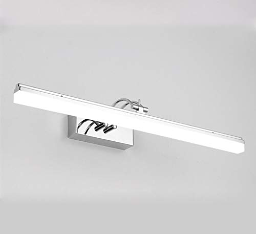 HSLXD.FGBD Led-spiegellamp, badkamerspiegel, voorlamp, acryl, make-uptafel, roestvrij staal, decoratie, spiegel, kastverlichting, 140 graden draaiverstelling displaylamp, wc-wandlamp