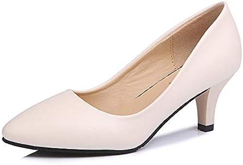 HOESCZS Frauen Schuhe Herbst Einzelne Schuhe Weißliche Stiletto Spitz High Heels Arbeit Professionelle Mode Schuhe