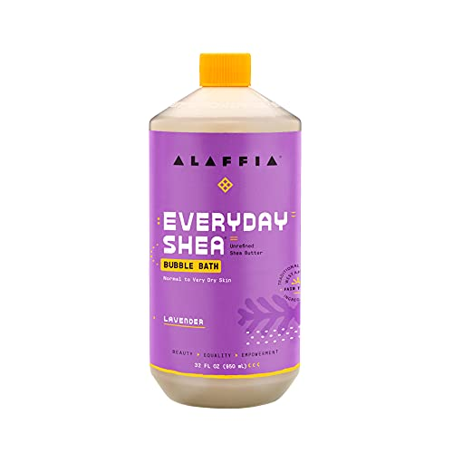 Product Image of the Alaffia Everyday Shea Bubble Bath Lavender, 32 Oz   Soothing Support for Deep...