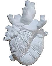 Nobranded Dekorativ harts vas anatomiskt hjärta formad blomkruka skrivbord prydnad nyhet blomma vaser skrivbord hantverk för vardagsrum kök café
