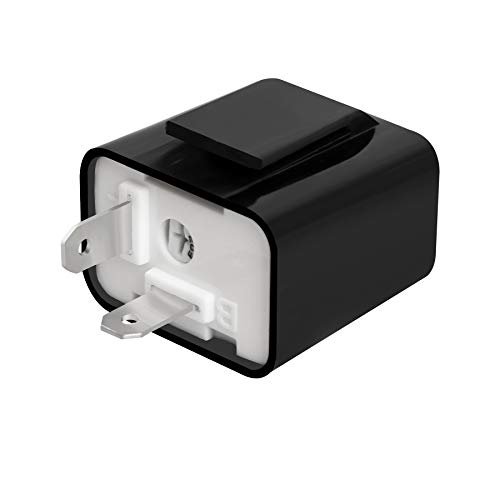 NTHREEAUTO 2 Pin Electronic Flasher Relay, Adjustable 12V Relays Fix for LED Turn Signal Hyper Flash, Universal
