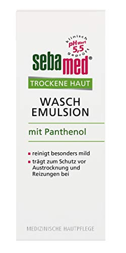 Sebamed Trockene Haut Wasch-Emulsion 200 ml, die besonders milde Reinigungsformel reinigt gründlich, ohne zu reizen oder auszutrocknen
