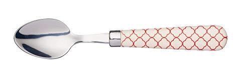 Kitchencraft kctspngeord cuillère imprimée réseau Geometric, rouge