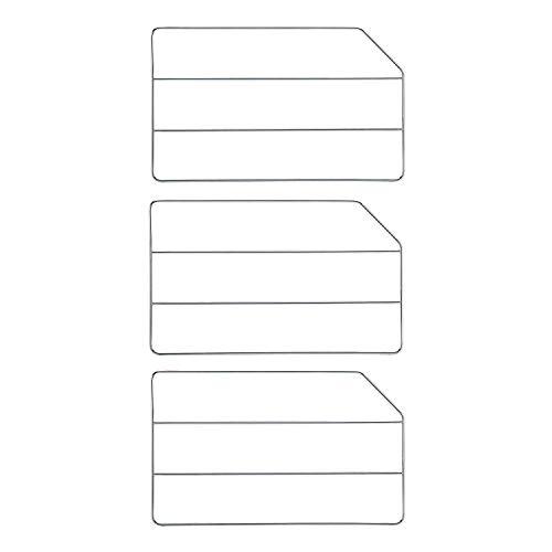 Rev-A-Shelf 18 Inch Bakeware Baking Sheet Tray Divider, Chrome (3 Pack)