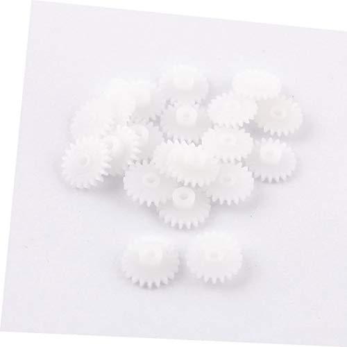X-DREE 20 Stück weiße Hochleistung elektrische Kunststoffmodelle 11mm 0,43' wesentlich Durchmesser Zahnräder(a40-70-cb-8da)