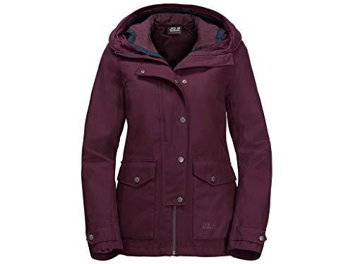 Jack Wolfskin W Devon Island Jacket Lila, Damen Doppeljacke-3-in-1-Jacke, Größe XS - Farbe Burgundy