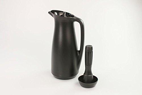 TUPPERWARE Exclusiv ThermoTup 1L schwarz Thermoskanne+Tee Einsatz schwarz