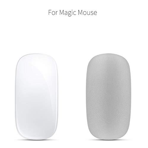 Bolsa Protectora de la Caja de Transporte de Almacenamiento Suave para Apple Magic Mouse Stretch Fabrics Cubierta Protectora Bolsa de Almacenamiento del Mouse - Plata