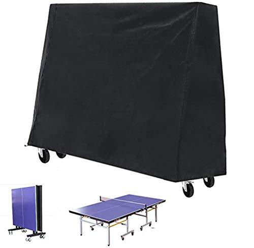 Funda mesa ping pong - funda mesa de ping pong para uso en exteriores e interiores, funda mesa ping pong impermeable con dobladillo con cordón(165×70×185cm)