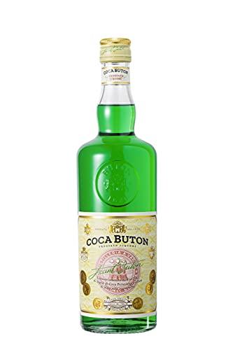 Coca Buton – Liquore a base di foglie di coca peruviana ed erbe aromatiche. Gusto dolce, vellutato ed esotico. Bottiglia da 70 cl, vol. 36,5%