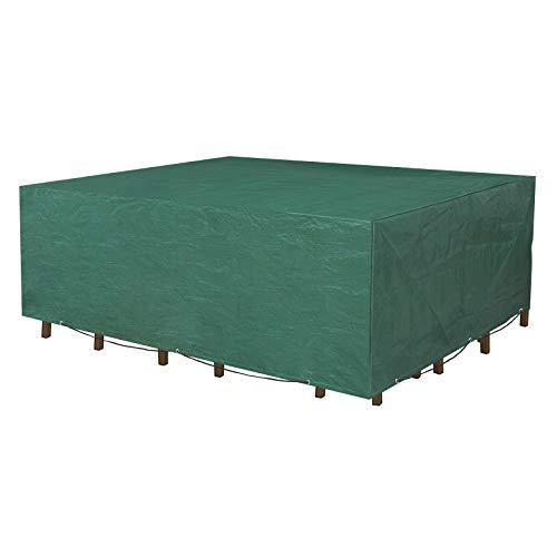 SONGMICS beschermhoes voor tuinmeubelen, 250 x 200 x 80 cm, dekzeil voor tafel en stoelen, outdoor, waterdicht, rechthoekig, groen GFC92L