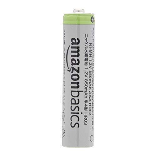 AmazonBasics AAA High-Capacity Rechargeable Batteries 850mAh (12-Pack) Pre-charged