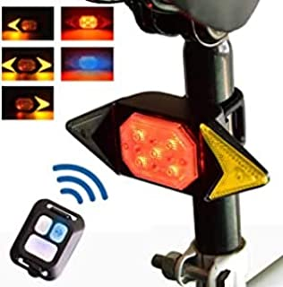 Color You Bike Tail Light with Turn Signals, USB Rechargeable Rear Light for Bicycle, Wireless...