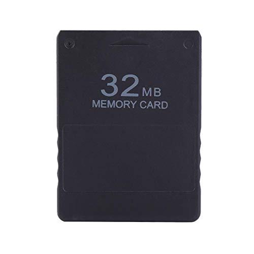 AMONIDA 32M Speicherkarte High Speed Memorykarte für Sony Playstation 2 PS 2 Spiele Zubehör, Schwarz