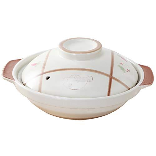 Cazuela De Cerámica Cacerola De Cerámica de alta temperatura a la antigua y resistente a la salud Olla de estofado Olla de sopa (Size : 1000ML)
