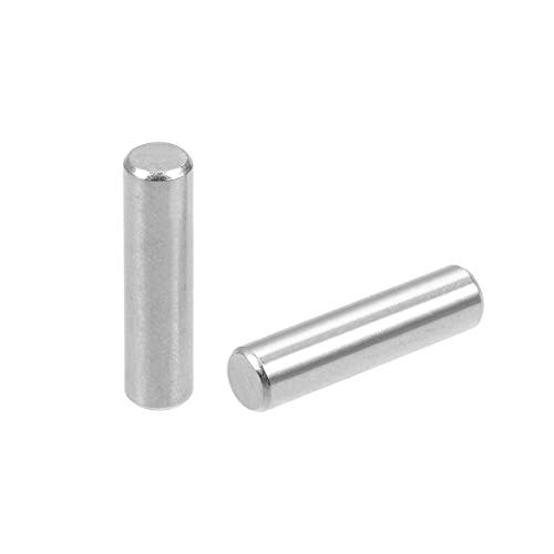 uxcell 50Pcs 4mm x 16mm Dowel Pin 304 Stainless Steel Wood Bunk Bed Dowel Pins Shelf Pegs Support Shelves Silver Tone