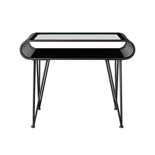 Beauté Manucure Table Nail Art Bureau Poste Travail Équipement De Beauté Manucure Cadre en Acier Station Salon Spa Table avec Tiroir Noir