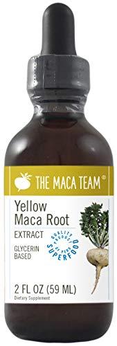Gelbes Maca Extrakt, flüssig – 59 ml – hergestellt aus biologischen gelben Maca Wurzeln, traditionell angebaut und geerntet in Peru, Fair Trade, alkoholfrei, gentechnikfrei, vegan