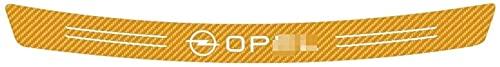 Kohlefaser Auto Stoßstangenschutz Hinterer Kofferraum Einstiegsleiste Platte Für Opel Astra J H G K Insignia Corsa D B E Mokka, Car Anti Scratch Heckklappen Zier Platte