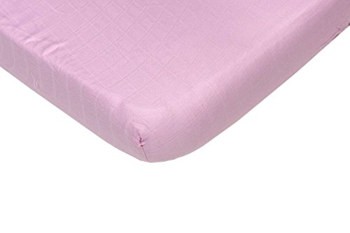 Briljant baby, hydrofiele hoeslaken, 70 x 140/150 + 25 cm, roze