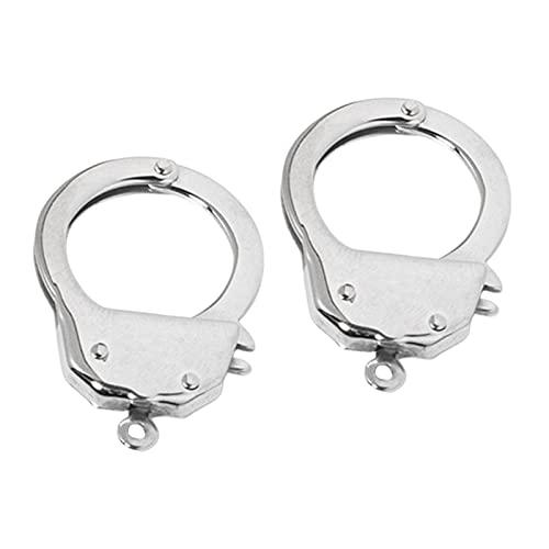 Harilla 2X Collar de Acero Inoxidable Esposas Broche Conector de Pulsera Cierres de joyería de Bloqueo de Moda Accesorios de convertidor de Bloqueo DIY