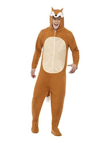 Smiffys, Unisex Fuchs Kostüm, All-in-One mit Kapuze, Größe: L, 27867