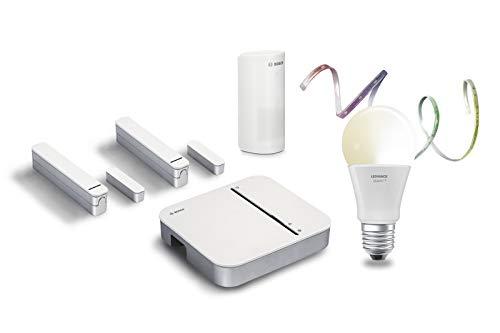 Bosch Smart Home 8750001448 Bosch Smart Home & LEDVANCE - Juego de iniciación de Seguridad con función de aplicación y Bombillas LED integradas (Compatible con Apple HomeKit)