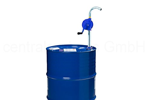 centralsystems GmbH Fasspumpe mit Kurbel - ÖL Diesel Fass Handpumpe - Tonnen Kurbel Pumpe