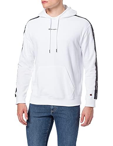 Champion Seasonal American Tape Hooded Sweatshirt, WHT, XL Mens