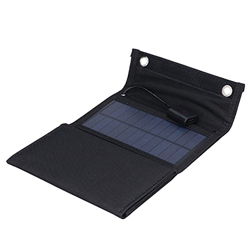 Jopwkuin Panel Solar, con Alta tasa de conversión USB Cargador de células solares Circuito Inteligente Impermeable para Exteriores para Viajes